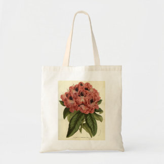 La bolsa de asas roja de la flor del rododendro