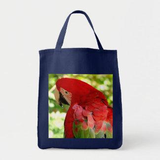 La bolsa de asas roja del Macaw