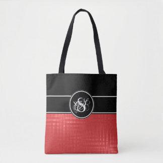 La bolsa de asas roja del monograma de Aspen