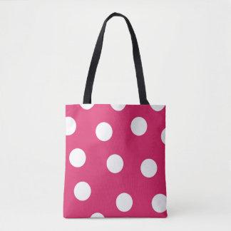 La bolsa de asas rosada de la polca