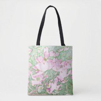 La bolsa de asas rosada del Dogwood