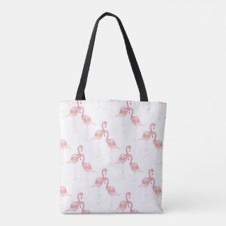 La bolsa de asas rosada del flamenco
