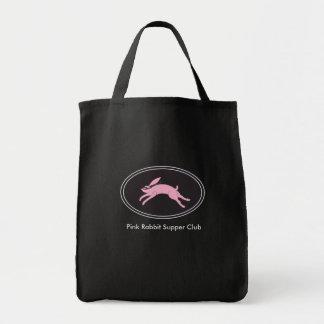 La bolsa de asas rosada del ultramarinos de la