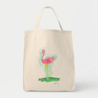 La bolsa de asas rosada del ultramarinos del