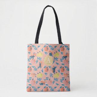 "La bolsa de asas rosada personalizada de la ""panda"