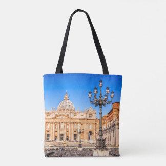La bolsa de asas Vatican de la impresión del