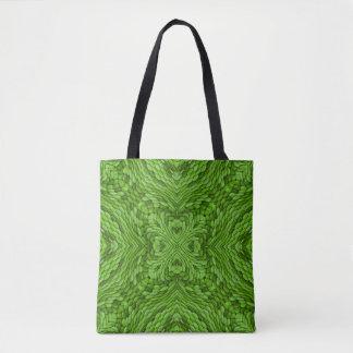 La bolsa de asas verde del caleidoscopio del