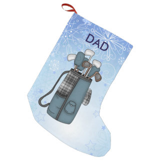 La bolsa de golf y nieve calcetín navideño pequeño
