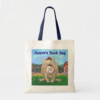 La bolsa de libros animal del desfile del conejo