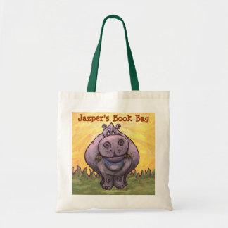 La bolsa de libros linda del hipopótamo