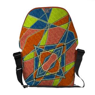 La bolsa de mensajero abstracta multicolora del bolsas de mensajería
