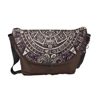 La bolsa de mensajero azteca del arte del calendar bolsa de mensajeria