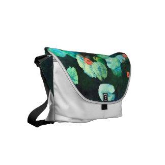 La bolsa de mensajero colorida del lirio