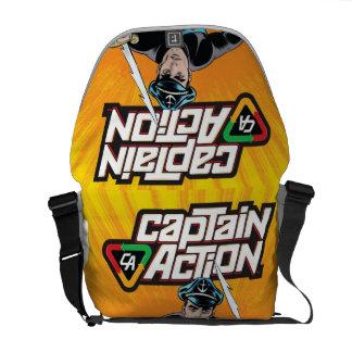 La bolsa de mensajero de capitán Action Rickshaw Bolsa De Mensajería