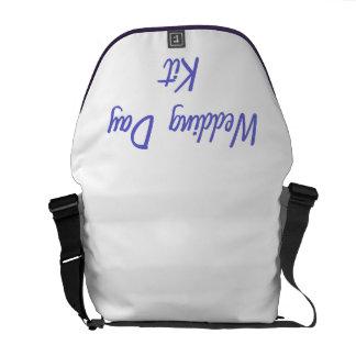 La bolsa de mensajero del equipo del día de boda bolsa de mensajería
