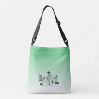 La bolsa de mensajero del horizonte de Seattle