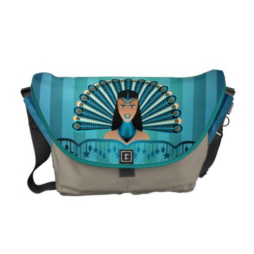 La bolsa de mensajero egipcia de princesa Rickshaw Bolsas De Mensajeria