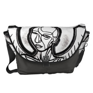 La bolsa de mensajero grande del ÁNGEL DE ACERO