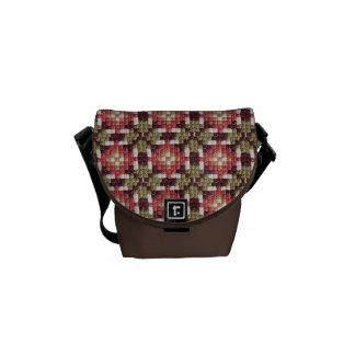 La bolsa de mensajero retra del bordado mini bolsas de mensajeria