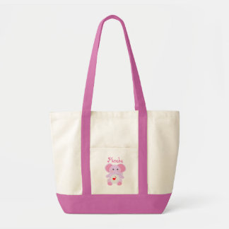 La bolsa de pañales de la niña del elefante rosado