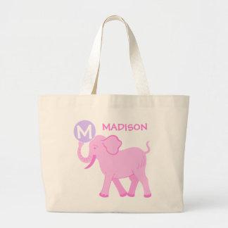La bolsa de pañales linda del elefante de la niña