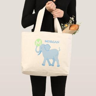 La bolsa de pañales linda del elefante del bebé
