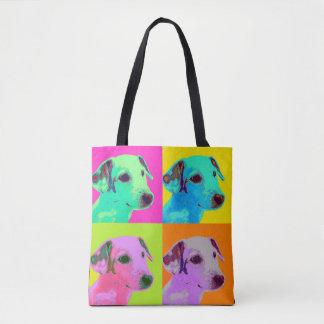 La bolsa. Perro, Jack Russels Terrier. Especie de Bolso De Tela