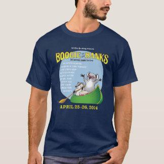 La boogie de los hombres en la camiseta de los