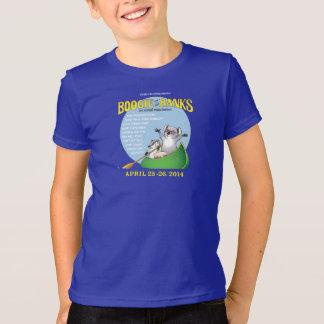 La boogie de los niños en la camiseta de los