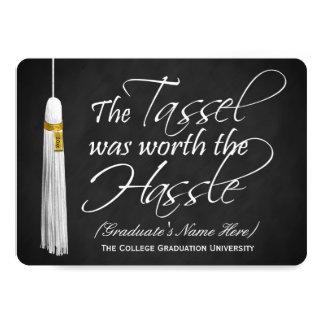 la borla 5x7 valió la graduación de la universidad invitación 12,7 x 17,8 cm