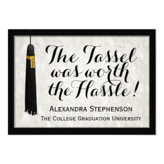 La borla valió la graduación de la universidad del invitación 12,7 x 17,8 cm