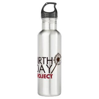 La botella de agua del logotipo del proyecto del