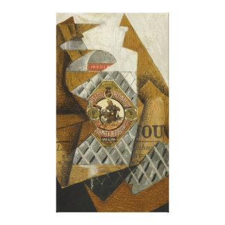 La botella de Anís del Mono de Juan Gris Lienzo Envuelto Para Galerías