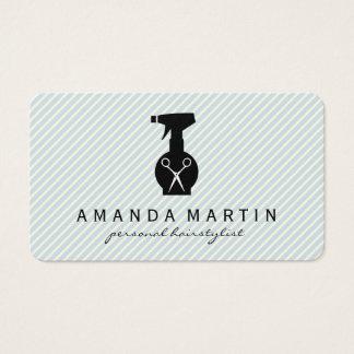 La botella de la laca esquila rayas tarjeta de negocios