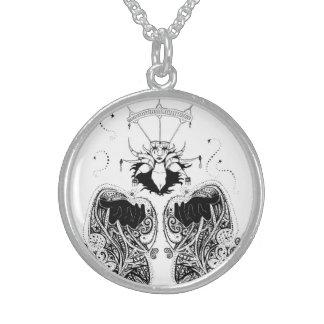 """""""La bruja"""", collar de la plata esterlina"""