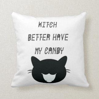 La bruja mejor tiene mi almohada del caramelo