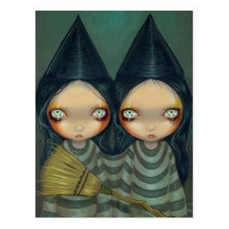"La ""bruja siamesa hermana"" la postal"