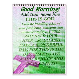 La buena mañana, añade su name_ tarjetas postales