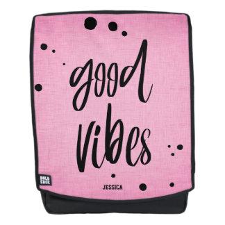 La buena sensación rosa y negro añade la mochila