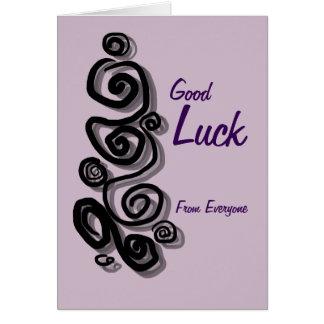 La buena suerte de cada uno añade sus remolinos tarjeta de felicitación