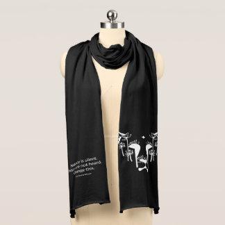 La bufanda honesta del negro del susurro