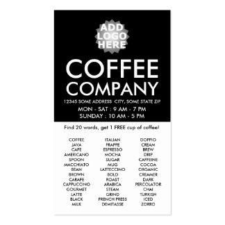 la búsqueda de la palabra del café CONSIGUE UNA Tarjetas De Visita