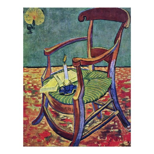 La butaca de Paul Gauguin de Vincent van Gogh Tarjetas Publicitarias
