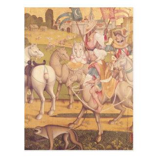 La cabalgata de unos de los reyes magos, c.1460 postal