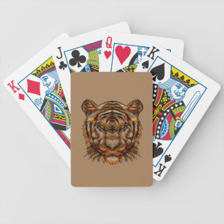 La cabeza 1a del tigre baraja de cartas bicycle