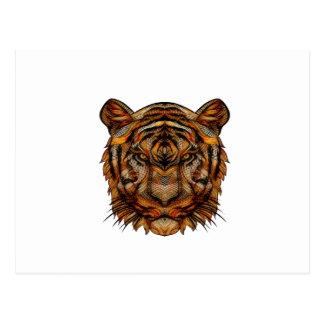 La cabeza 1a del tigre postal