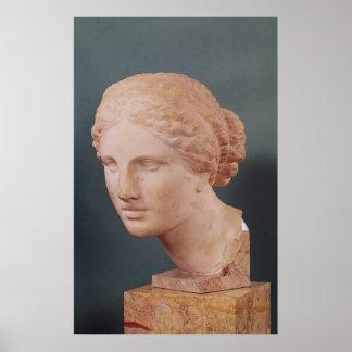 La cabeza de Kauffmann, cabeza del Aphrodite Póster