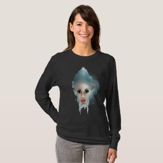 La cabeza de la mujer congelada montaña camiseta