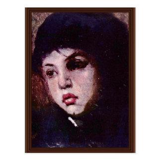 La cabeza de los chicas de Grigorescu Nicolae (la  Postales