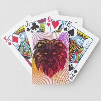 La cabeza del león baraja de cartas bicycle